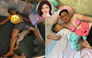 Ca sĩ Thanh Ngọc tung loạt ảnh 'dìm hàng' chồng con