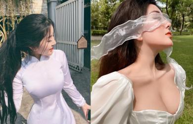 'Em gái cấp 3 không góc chết' diện trang phục ôm sát cơ thể, như muốn làm 'nổ banh' vòng một đầy đặn